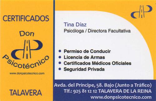 Certificados Don Psicotécnico